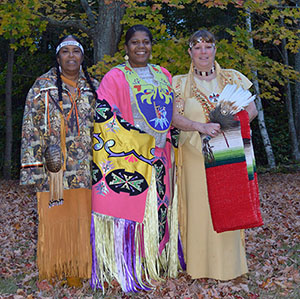 Some of the Eastern Pequot Tribal Nation's Council Members. From left to Right Comptroller Valerie Gambrell, Councilor La'Tasha Maddox and Vice-Chairman Brenda Geer