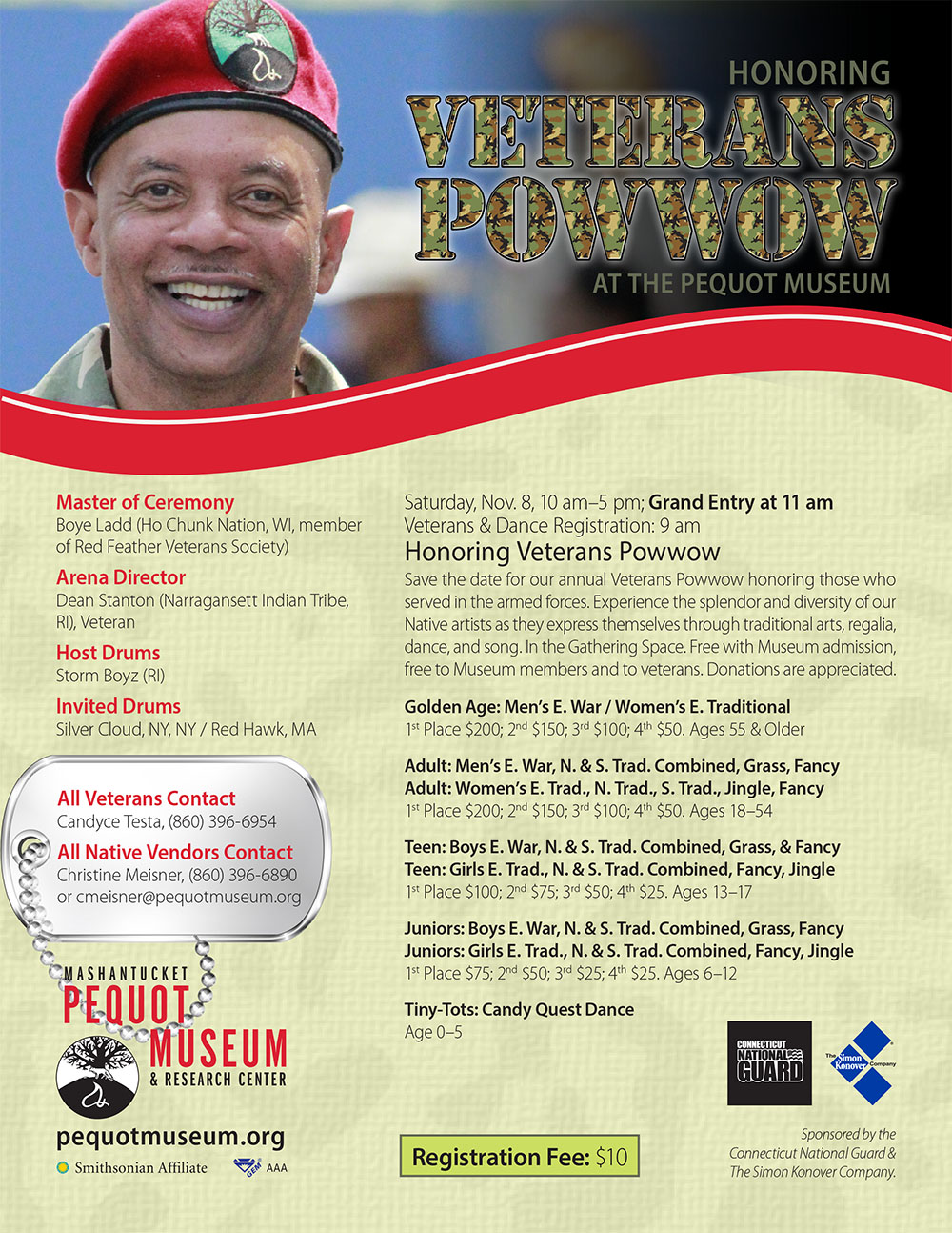 Mashantucket Pequot Museum and Research Center Honoring Veterans Pow Wow