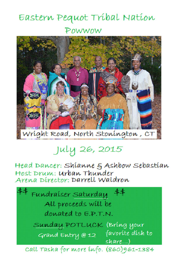 Eastern Pequot Tribal Nation Pow Wow Flyer